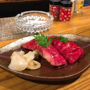 お肉の握り🍣🌞 分厚くて食べ応え◎でした✨