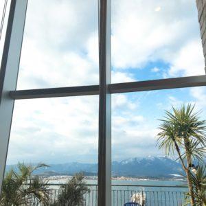 ⑵琵琶湖が見える席に案内してもらえたので 1枚パシャり✌︎('ω'✌︎ )