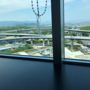 京都南オフィスからの風景②特別編~とある京都南オフィスの派遣先様の休憩室からの風景です!スカッとした風景でリフレッシュできます(^^♪tk