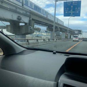 本日は、大阪の摂津市あたりに営業訪問しておりました!西宮に戻る道中でパシャリ★モノレールと並走です!tk